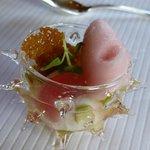 Sorbet canneberge et gelée de pomme verte