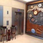 Near the elevator on ground floor