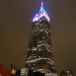 Empire State Building from the rooftop terrace.