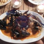 Mussels Saganaki- my husbands favorite meal of the trip