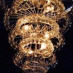 Amazing sculpture:  chandelier in Ginger Pop
