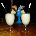 yummy pinas coladas with candle lights