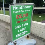 Car hand wash available on rear car park £6.99. Open 7 days a week (8am-8pm)