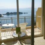 Blick von Zimmer 411 auf Bucht von Kerkyra