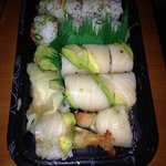 capital roll and spicy tuna roll