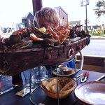 Sea food plate for one