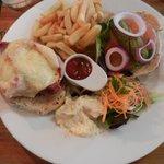 Bumper burger presentation