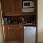 Kitchen area in regular deluxe villa