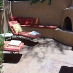 Women's private terrace in the spa