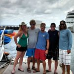 Hangin' withTodd, Adam, my Hubs and the Captain. (from L to R)