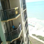 Our room was Ocean view & not ocean front: Neighbors balcony can be seen.