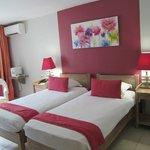 Bright colored decor