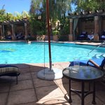The cabana pool.  The cabanas cost 100 - 165 per day depending on the season