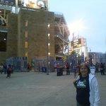 The concourse outside the ballpark