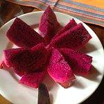 Dragonfruit at breakfast
