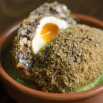 Morcilla Scotch Egg, Mojo Verde
