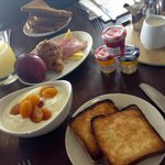 breakfast (minus hot food we were waiting for briefly)