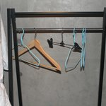 Coat hanger in the room