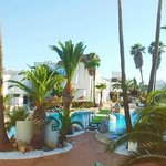 piscina desde el balcón