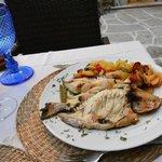 Whole fish at Restaurante Quinta de San Amaro.