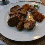 Roast pork at Restaurante Quinta de San Amaro.