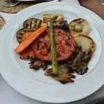 Grilled vegetables at Restaurante Quinta de San Amaro.