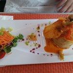 mofongo de yuca con filete de pescado