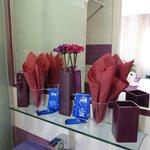 produits d'accueil dans la salle de bain