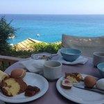 breakfast view from their garden