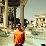 Na piscina do hotel, a água estava bem quentinha, kkk.