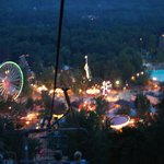 Knoebel's at night from sky lift