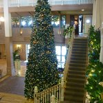 Christmas decorations in lobby