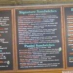 Big sandwich menu