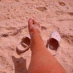 mes pieds dans le sable