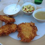 Lunch and garden restaurant, the most delicious latkes I ever had