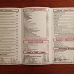 Santini's Menu - Inside - as of 7/5/14