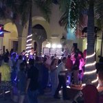Nightly dancing to live band in main promenade area