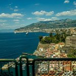 view of Sorrento from our balcony