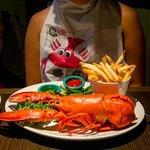Got a cute souvenir bib with the 1/2 lb lobster meal
