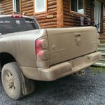 Parking outside the cabin. Your vehical will have a mud or dust bath on the way up