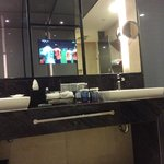 you can watch TV when you are bathing