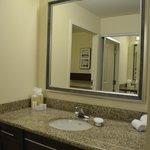 Vanity area off the bathroom