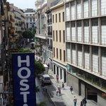 Looking up Calle Carretas