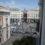 Looking to Puerta del Sol from our balcony