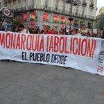 Political Protest on Puerta del Sol