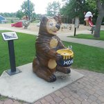 Bear drinking fountain