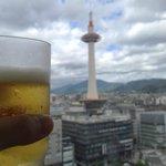京都タワーを見ながらの食事