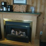 lodge room fireplace