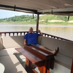 relaxing on the Mekong