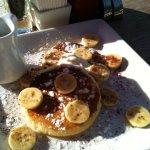 pancakes with banana!!
